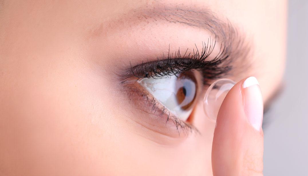 kontaktines linzes